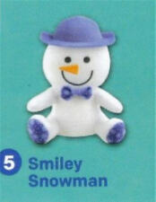 "Build a Bear 4"" White Smiley Snowman McDonald's 2015 #5 Happy Meal Toy NEW"