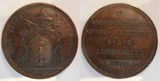 Vaticano medaglia sede vacante 1823