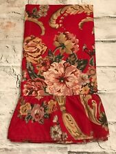 FAB! Vintage Ralph Lauren Marseilles Red Floral Ruffle One King Pillowcase NEW!