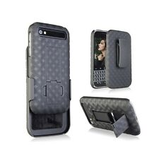 BLACKBERRY CLASSIC Q20 SLIM SHELL HOLSTER BELT CLIP COMBO CASE WITH KICKSTAND