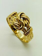 9ct Yellow Solid Gold Weave Knot Style Ring