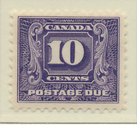 Canada Stamp Scott #J10, Mint Hinged