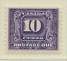 Canada Stamp Scott #J10, Mint Hinged