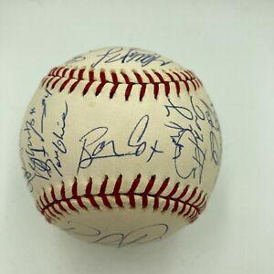 2001 Atlanta Braves Team Signed MLB Baseball Chipper Jones Greg Maddux JSA COA