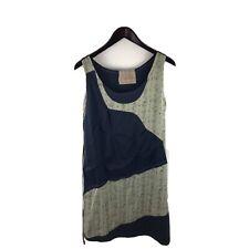 Artsy Ian Mosh Tunic Floral Patchwork Blue Beige Dress Size 5 XL