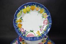 "(4) Procida Ceramiche Vietri Hand Painted Bowls Salad Pasta Antipasto 10"""