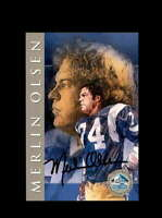 Merlin Olsen SGC Graded Gem Mint 10  1998 HOF Signature Series Rams Autograph