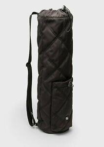 new STRADIVARIUS Yoga mat bag/crossbody backpack,bottle&phone pockets,black,Zara