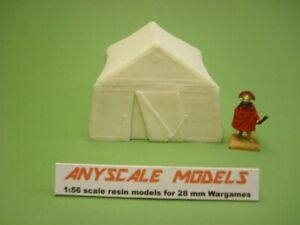 28mm Wargames accessories.  Campaign tent 1:56 scale.  (8140)