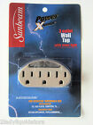 3 OUTLET GROUNDED AC POWER SENSOR NIGHT LIGHT WALL TAP UL LISTED BEIGE ADAPTER
