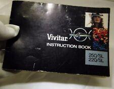 Vivitar 220 250 SL camera  Instruction Manual Guide vintage EN vintage SLR