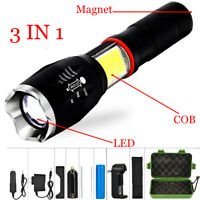 Multifunction T6 Led COB Flashlight Torch Tail Super Magnet Design Working Lamp