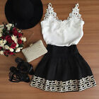 New Women's Sleeveless Lace Bodycon Evening Party Cocktail Short Mini Dress 6-14