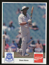 1980s or 1990s Victorian Association Shane Warne Cricket card Coca Cola