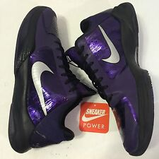 Nike Zoom Kobe V 5 OG Ink sz 10 Black Purple White Silver Original Vintage iv vi