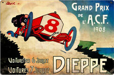 Dieppe Grand Prix 1908  Metal Sign