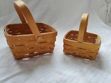 Longaberger Baskets - Set of 2 Small Rectangular Baskets