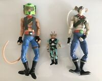 "Vintage Biker Mice From Mars Action Figure Bundle - 12"" & 5"" - 1992-2006"