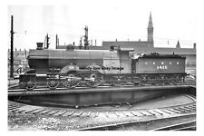 pt0747 - LNER Steam Train on Turntable at Doncaster Yorkshire - photo 6x4