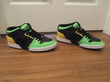 BNIB Size 10 Osiris NYC 83 Mid Shoes Black Lime Yellow Purple White
