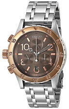 Nixon A4042215 Brown Dial Stainless Steel Chronograph Women's Watch