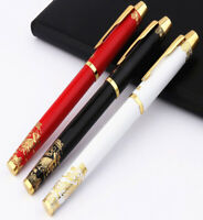 Hero 8007 Metal Fountain Pen with Converter, Medium Nib, Great Wall of China