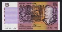 Australia R-212L. (1990) 5 Dollars - Fraser/Higgins.. Last Prefix QJR.. UNC