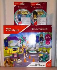 Mega Construx American Girl: Lot of 3. Julie's Basketball Game an 2 Extra Girls.
