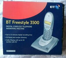 BT Freestyle 3500 Digital Cordless Telephone Answering Machine NEW Silver