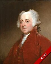 US PRESIDENT JOHN ADAMS PORTRAIT PAINTING ART REAL CANVAS PRINT GILBERT STUART
