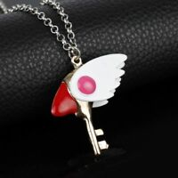 CardCaptor Sakura Clear Card Clow Key Metal Charm Pendant Cosplay Necklace