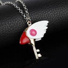 CardCaptor Sakura Clear Card Clow Key Metal Charm Pendant Cosplay Necklace
