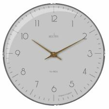 Acctim Cara Domed Glass Wall Clock in Mist and Grey 33cm