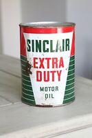 Sinclair Extra Duty Motor Oil Can FULL Vintage Dino Dinosaur advertising 1 quart