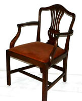 Antique Chippendale Mahogany Armchair - FREE Shipping [PL3010]