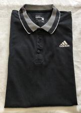 Mens Adidas Essentials Climalite Polo Shirt T-Shirt - Black - Good Condition