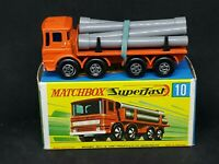 Matchbox MB10-A3 Superfast - Pipe Truck (Orange) in Type G Box