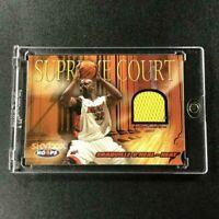 SHAQUILLE O'NEAL SHAQ 2004 FLEER SUPREME COURT GAME WORN JERSEY CARD NBA HOF