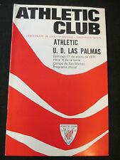 PROGRAMA OFICIAL FUTBOL ATHLETIC CLUB BILBAO - U.D. LAS PALMAS 1971 SAN MAMES