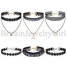 6PCS Choker Fashion Women Girls Gothic Punk Velvet Tattoo Lace Collar Necklace