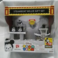 Exclusive Disney Tsum Tsum Steamboat Willie Gift Set ( 90 YEARS OF MICKEY )