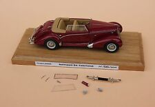 Voiture Salsom S4 cabriolet convertible bordeaux 1/43 Heco miniatures Challange