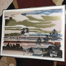 """Daryl Heward, Art, signed embossed """"Dawn of the Forest Mesa"""""""