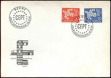 Svizzera 1961 EUROPA, FDC PRIMO GIORNO DI COPERTURA #c39933