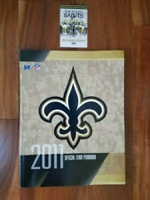 New Orleans Saints 2011 Official Team Yearbook Guide & FREE 2019 Schedule Card