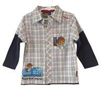 GO DIEGO GO! Size 3 Blue Check Button Up Shirt Dress Up Top Dora Explorer NEW
