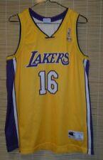 NBA LOS ANGELES LAKERS basketball SHIRT JERSEY champion #16  Pau Gasol size XL