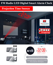 Led Digital Alarm Clock Usb Radio Time Projector Table Electronic Desktop Clocks