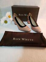 Ron White Women's Dress Shoes - Nude Pearl w/ Black Trim EUR  size 36.5 (US 5.5)
