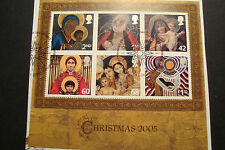 GB 2005 Commemorative Stamps~Christmas~ M/S~ Fine Used Set~on piece,~UK